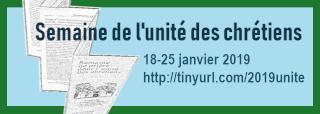 Le dépliant pour la semaine de l'unité des chrétiens du 18 au 25 janvier 2019 est téléchargeable ici