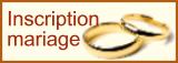 Fiche d'inscription au mariage