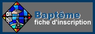 Fiche d'inscription au baptême